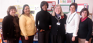 Principal and teachers at the Montessori Magnet School in Albany, NY.